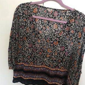 Floral quarter-length shirt